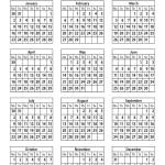 Free InDesign calendar 2012
